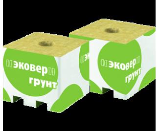 Эковер кубик минеральной ваты 75х75х65 с отверстием